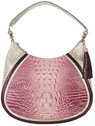 Brahmin Monte Carlo Amira Satchel (Tea Rose) Handbags