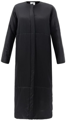 LA COLLECTION Pheme Padded Silk-satin Coat - Black