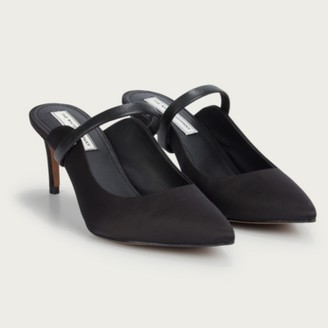 The White Company Evening Mule Heels , Black, 39