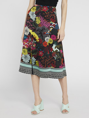 Alice + Olivia Athena Floral Midi Skirt