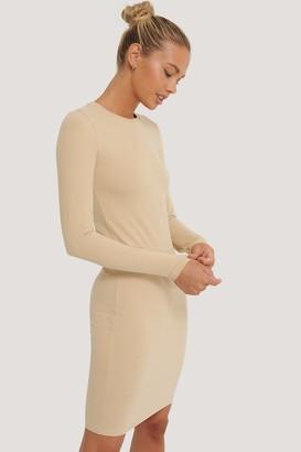 NA-KD Long Sleeve Soft Dress