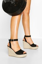 Thumbnail for your product : boohoo Peep Toe Espadrille Wedges