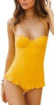 Anvoro Women's Sexy Bandeau Siamese 1 Piece Swimsuit Swimwear