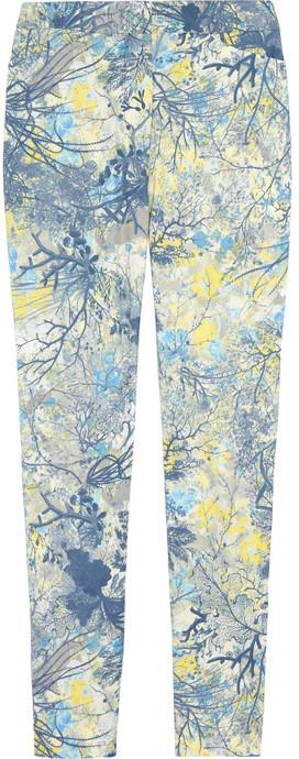 Erdem Sidney floral-print twill skinny pants