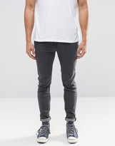 Lee Malone Super Skinny Jeans Stone Grey