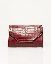 Le Château Leather-Like Croco Crossbody Bag