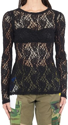 Dolce & Gabbana Floral Lace Sheer Top
