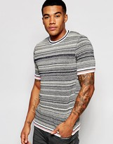 Asos Knitted Tshirt with Contrast Hems