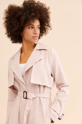 Greylin Linen Summer Trench