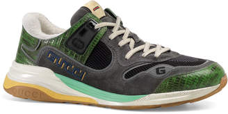 Gucci Men's UltraPace Mixed-Material Sneakers