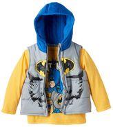 Boys 4-7 DC Comics Batman Puffer Vest & Tee Set