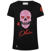 Philipp Plein Philipp PleinGirls Black Diamante Skull Princess Top