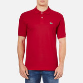 Lacoste Men's Basic Pique Short Sleeve Polo Shirt Red