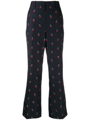 Gucci Cherry Print Bootcut Pants