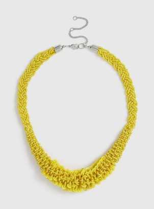 Dorothy Perkins Yellow Seedbead Necklace