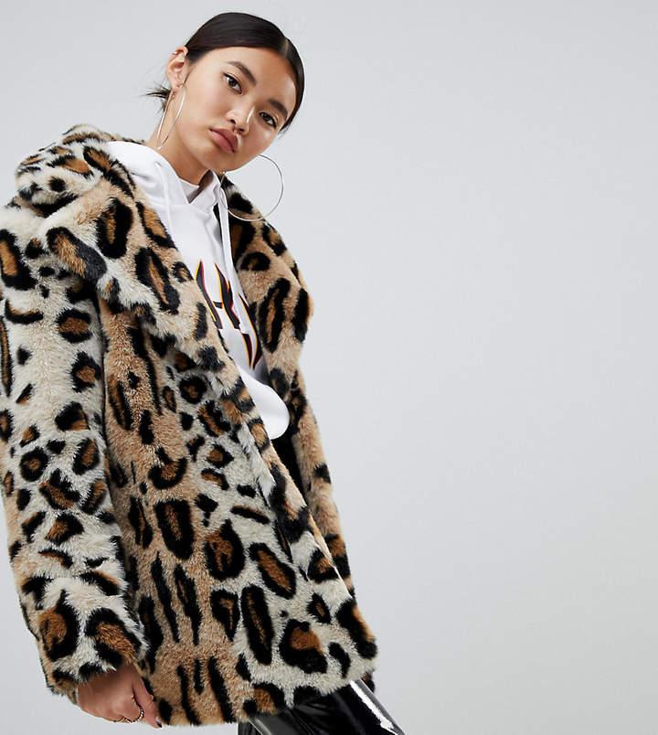 f26c6b4be98a Leopard Print Faux Fur Jacket - ShopStyle