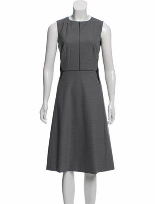 Narciso Rodriguez Sleeveless Midi Dress Grey