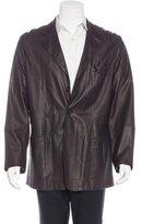 Armani Collezioni Leather Three-Button Jacket