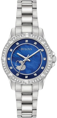Bulova Women's Analog Quartz Crystal Bracelet Watch, 30mm