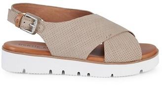 Gentle Souls Prisca Perforated Platform Slingback Walking Sandals