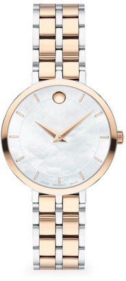 Movado Kora Two-Tone Stainless Steel & Carnation PVD Bracelet Watch