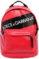 Dolce & Gabbana Logo Tag Print Coated Nylon Backpack