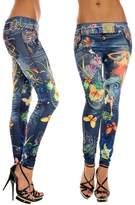 Awtang Women Sexy Skinny Jeggings Stretchy Leggings Tights Floral Jean Pants