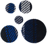 Sacai tweed effect cluster dot brooch set
