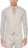Perry Ellis Linen Cotton Twill Suit Vest