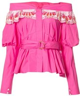 Peter Pilotto embroidered off shoulder top