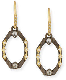 Armenta Old World Octagonal Earrings with Diamonds & White Sapphires