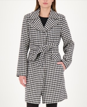 Kate Spade Gingham Belted Wrap Coat, Created for Macy's