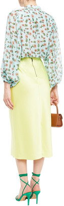 Alice + Olivia Raya Floral-print Cotton And Silk-blend Mousseline Blouse