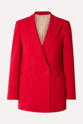 BLAZÉ MILANO Georgina Brandolini Dadda Everyday Double-breasted Wool-crepe Blazer - Red