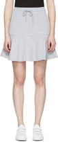 McQ by Alexander McQueen Grey Peplum Miniskirt