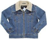 Molo Faux Shearling & Cotton Denim Jacket
