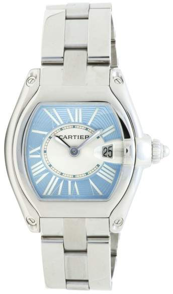 Cartier Roadster 2675 Stainless Steel Blue Dial 32mm Womens Watch