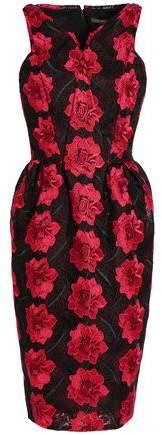 Zac Posen Flared Guipure Lace Dress