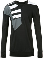 11 By Boris Bidjan Saberi patch panelled long sleeve top - men - Cotton - S