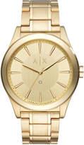 Armani Exchange Men's Diamond Accent Gold-Tone Stainless Steel Bracelet Watch 44mm AX2327