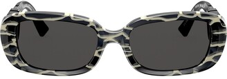Valentino Eyewear oval frame sunglasses with VLOGO