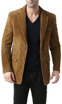 "BGSD Men's ""Cliff"" Classic Two-Button Suede Leather Blazer - XL"