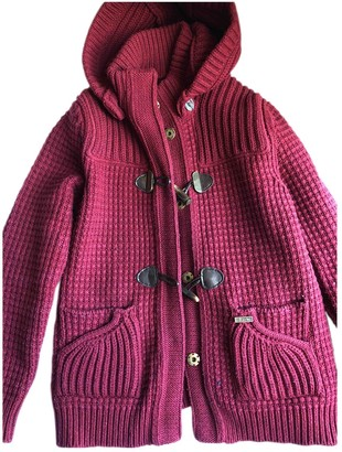 Bark Burgundy Wool Coat for Women