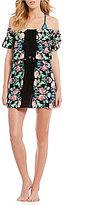 Nanette Lepore Damask Floral Off-The-Shoulder Dress Cover-Up