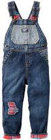 Osh Kosh Flannel-Lined Rip-&-Repair Denim Overalls