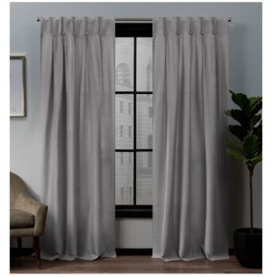 """Exclusive Home Loha Linen Button Top Window Curtain Panel Pair, 32"""" x 96"""""""