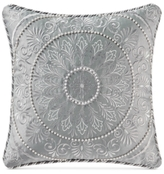 "Waterford Carlisle Platinum 16"" Square Decorative Pillow"