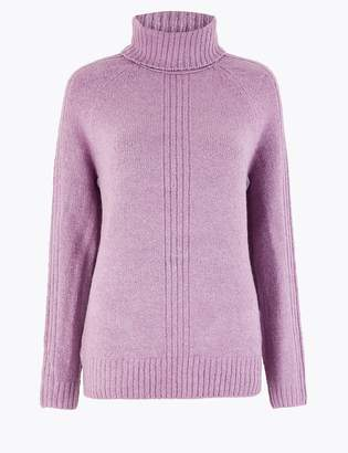 M&S CollectionMarks and Spencer Cosy Roll Neck Jumper