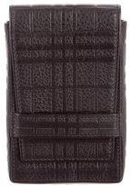 Burberry Embossed Leather Phone Case