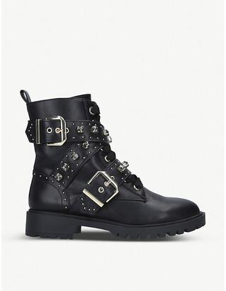 Kurt Geiger Trixabel stud-embellished biker boots